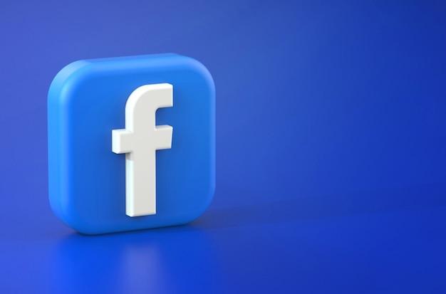 3d rendering of facebook logo