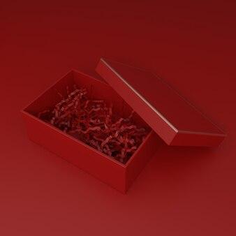 3d-рендеринг праздничной пустой картонной упаковки для продуктов по уходу за кожей или туалетных принадлежностей snack beauty