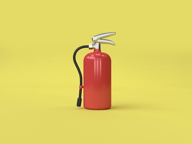 3d rendering fire extinguisher yellow