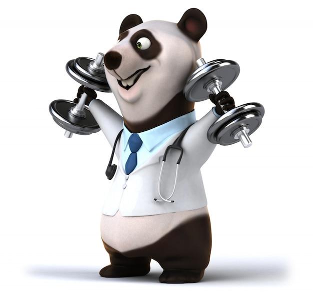 3d rendering of funny bear