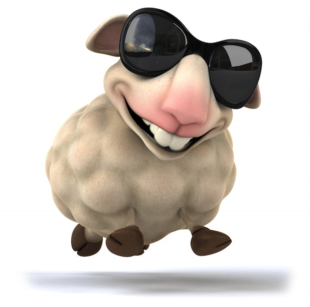 3d rendering of funny sheep