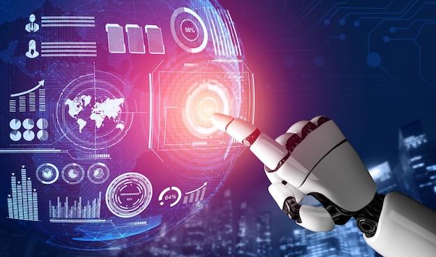 3d rendering 미래형 로봇 기술 개발, 인공 지능 ai