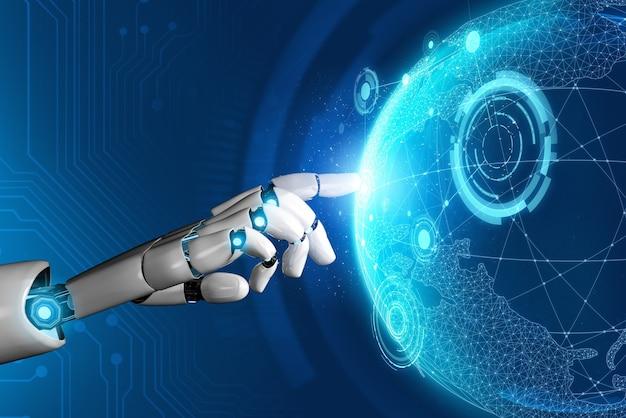 3d rendering 미래형 로봇 기술 개발