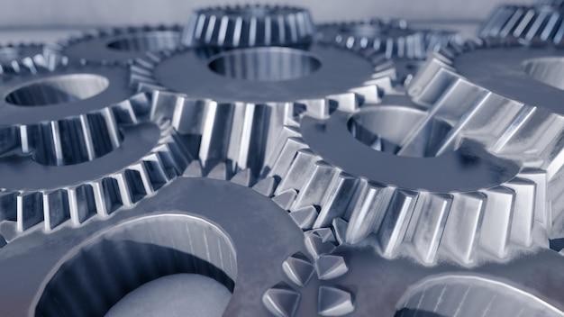 3d rendering gear engine illustration