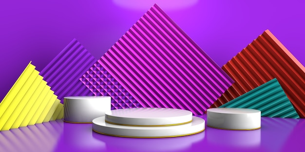 3d rendering of a geometric background for commercial advertising