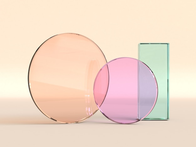 3d rendering of glass surfaces