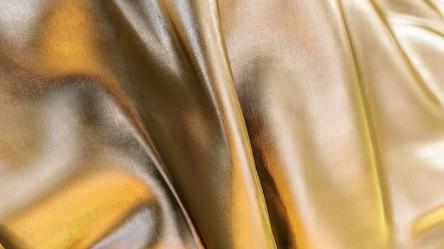 3d rendering of gold fabric texture