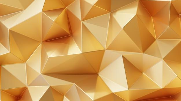 3d 렌더링. 골드 삼각형 추상적인 배경입니다.