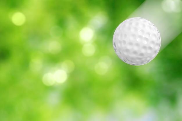 3d-рендеринг мяч для гольфа в движении