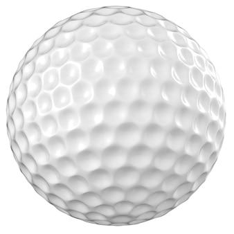 3d-рендеринг мяч для гольфа, изолированные на белом фоне