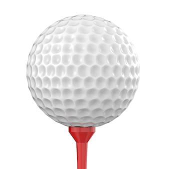 3d-рендеринг мяч для гольфа на тройнике, изолированные на белом