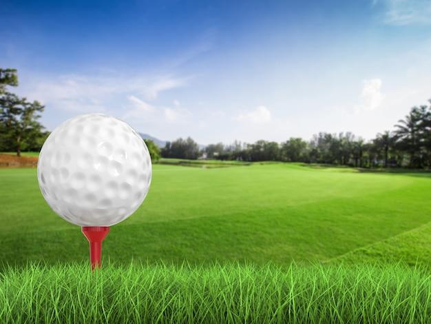 3d-рендеринг мяч для гольфа на вид сбоку тройник