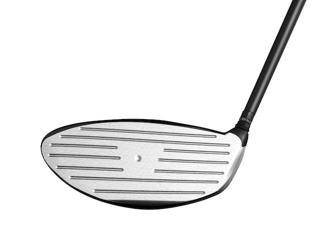 3d-рендеринг гольф-клуба, изолированные на белом фоне