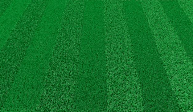 3d rendering green striped lawn for playing football Premium Photo