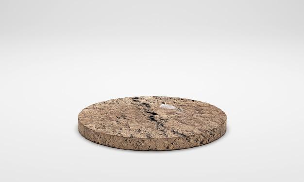 3d 렌더링. 지상 토양 연단 흰색 배경에 고립입니다.