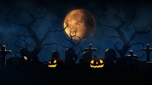 3d визуализация хэллоуин фон