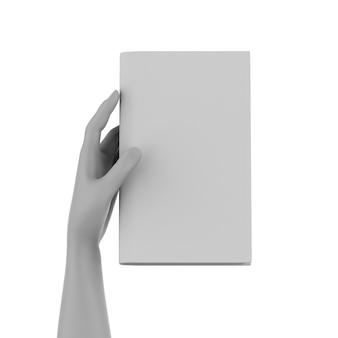 3dレンダリングハンドホールド空白ページノートブック