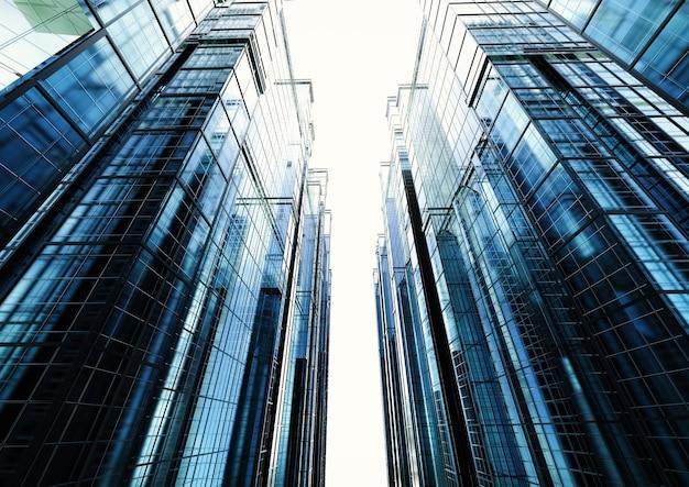 3dレンダリング高層オフィスビル