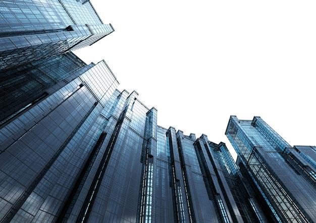 3d рендеринг высотного офисного здания