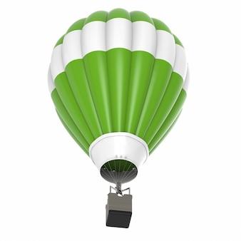 3d 렌더링 뜨거운 공기 풍선 흰색 절연