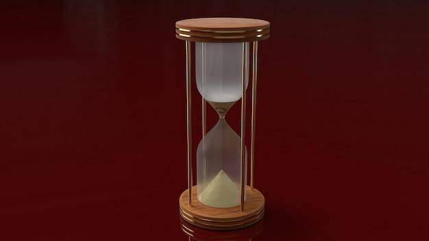 시간에 대 한 3d 렌더링 모래 시계