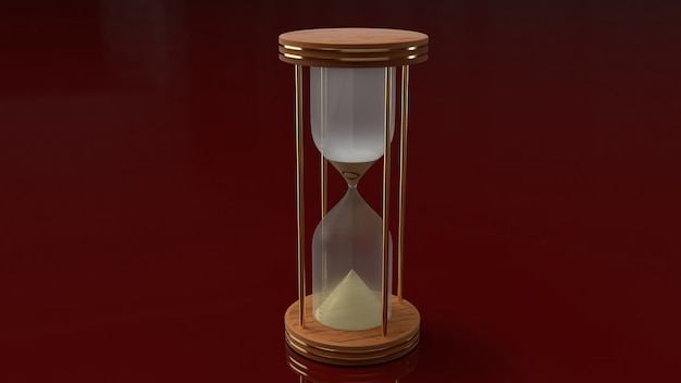 3d rendering hourglasses for time