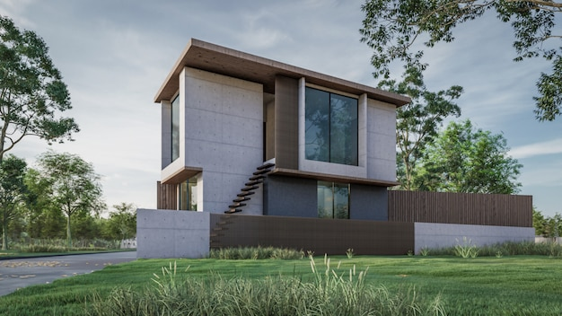 3d rendering of house visualisation