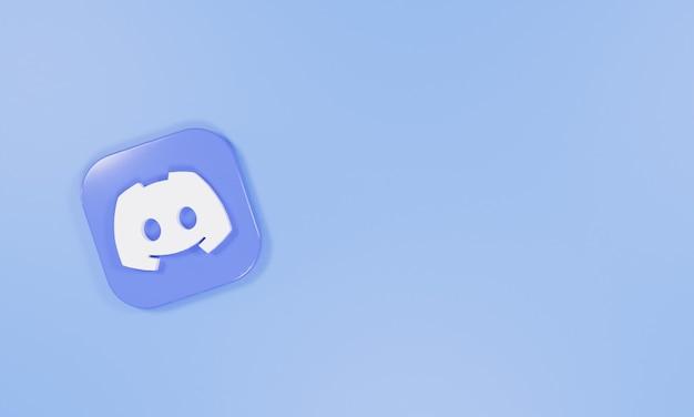 3dレンダリングアイコンのロゴの不和
