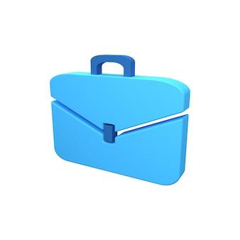 Значок 3d-рендеринга бизнес-чемодана. значок 3d портфель. изолированные 3d рендеринга портфель значок