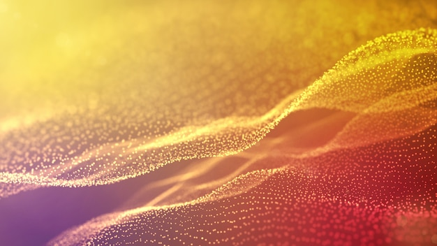 3d rendering illustration abstract background with moving wave.