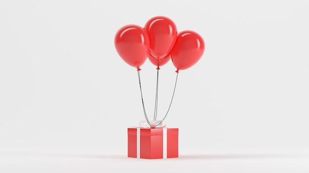 3d рендеринг иллюстрация воздушный шар gif красный цвет