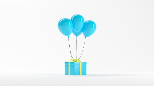 3d рендеринг иллюстрация воздушный шар гифка