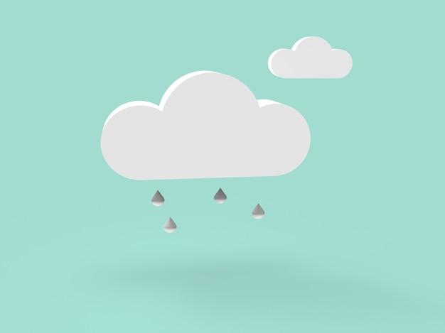 3d-рендеринг иллюстрации организации архива и файлов в облаке