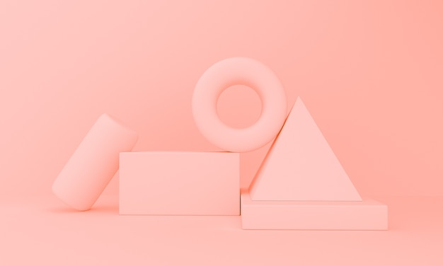 3d rendering illustration of platform for product showcase, identity or branding.