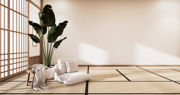 3d rendering  japanese style room interior design orinal.
