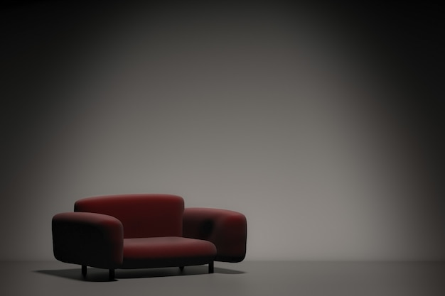 3d rendering leather sofa for interior decoration