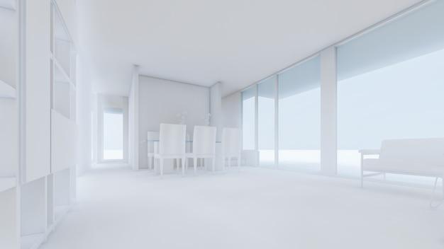 3d rendering of living room illustration