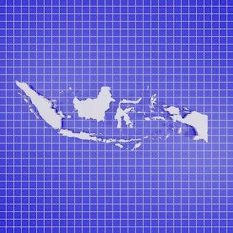 3d 렌더링지도 인도네시아