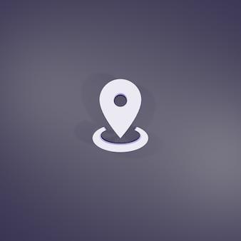 3d rendering map marker radius sign
