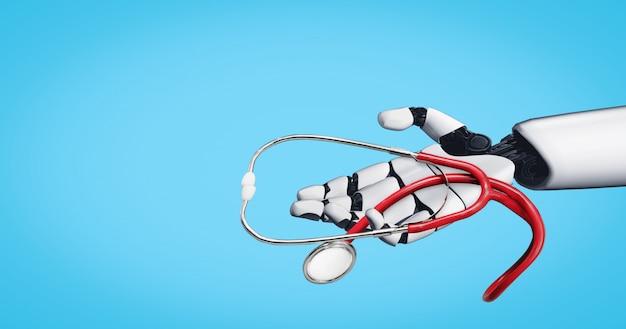 3d rendering medical artificial intelligence robot