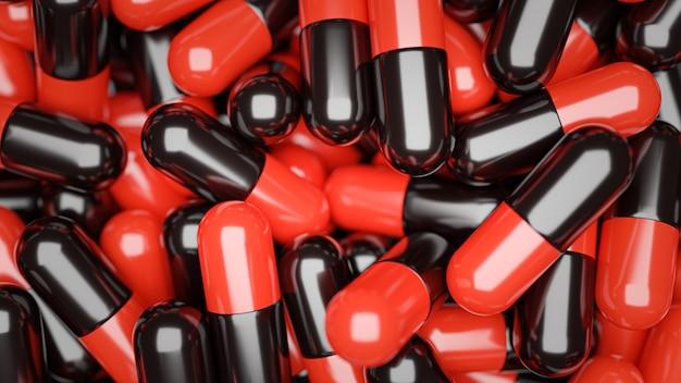 3d rendering. medicine pills capsules