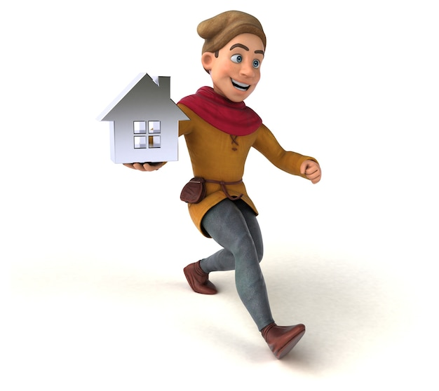 3d rendering of a medieval historical character