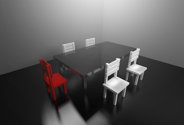 3d rendering meeting room boring meeting concept.