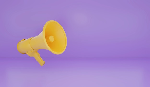 3d rendering megaphone on background advertise promotion background sale season concept retro gadget