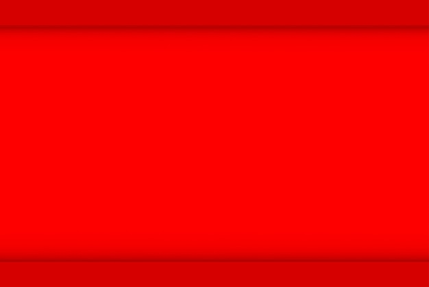 3d 렌더링. 최소한의 빈 빨간색 공간 벽 디자인 아트 배경. 프리미엄 사진