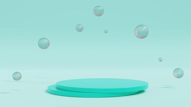 3d рендеринг. минимальный показ сцены с геометрическими формами или подиумный дисплей продукта