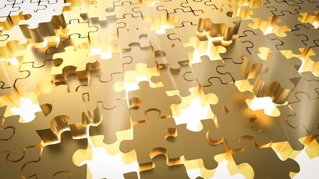 3d рендеринг недостающих частей головоломки