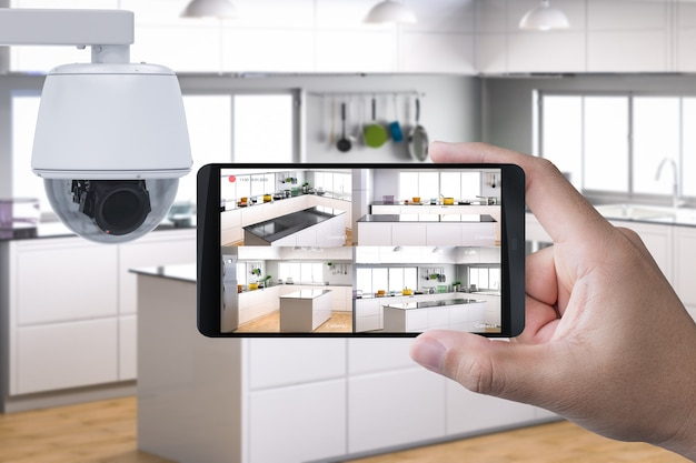 セキュリティカメラとの3dレンダリングモバイル接続