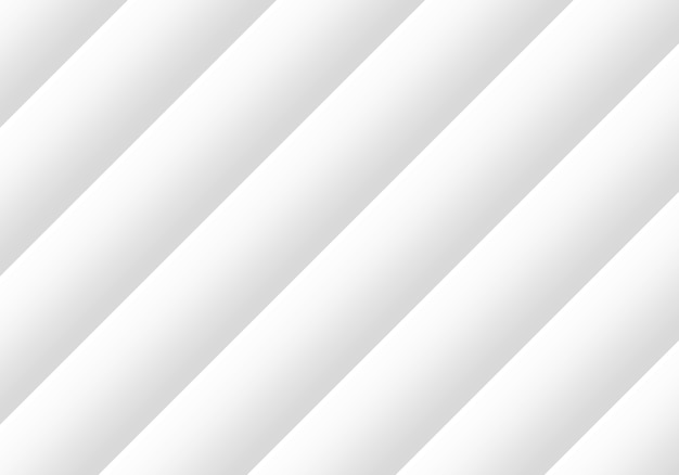 3d rendering. modern abstract white diagonal parallel plate design art wall background.