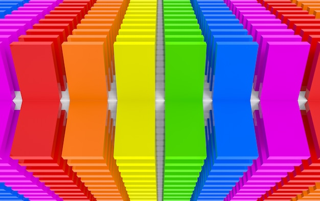 3d rendering. modern flip lgbt rainbow color panel block design wall art background.
